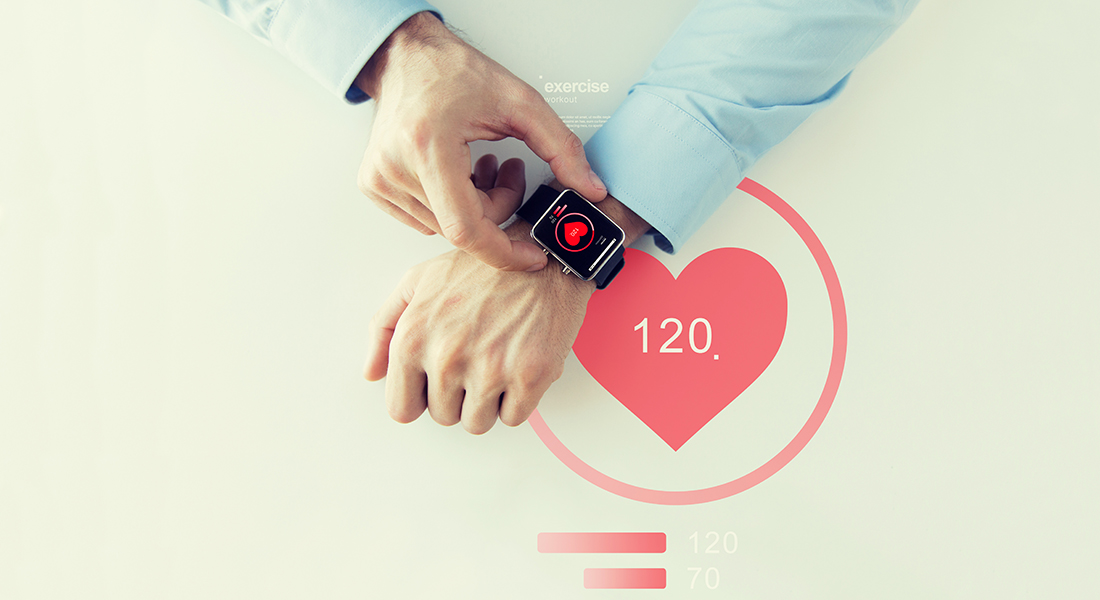 Smart watch with health data